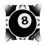 8 Ball Deco Woven Throw Pillow