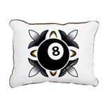 8 Ball Deco Rectangular Canvas Pillow