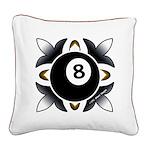 8 Ball Deco Square Canvas Pillow