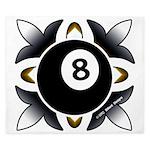 8 Ball Deco King Duvet