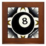 8 Ball Deco Framed Tile
