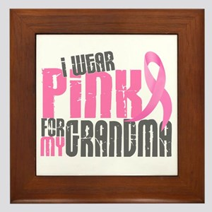 I Wear Pink For My Grandma 6.2 Framed Tile