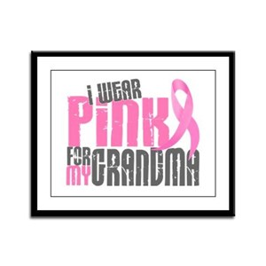 I Wear Pink For My Grandma 6.2 Framed Panel Print