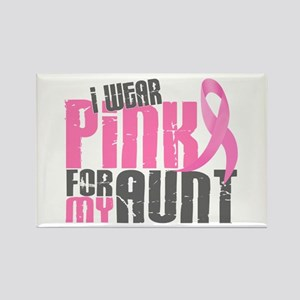I Wear Pink For My Aunt 6.2 Rectangle Magnet