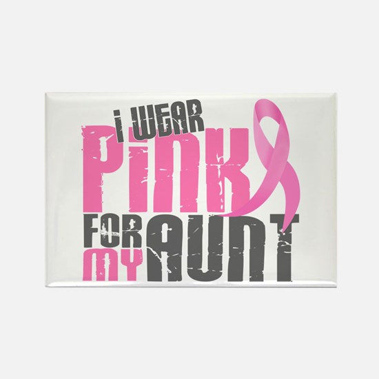 I Wear Pink For My Aunt 6.2 Rectangle Magnet (10 p