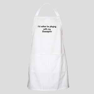 Be with my Lhasapoo BBQ Apron