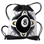8 Ball Deco Drawstring Bag