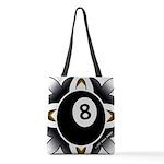 8 Ball Deco Polyester Tote Bag