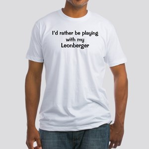 Be with my Leonberger Fitted T-Shirt