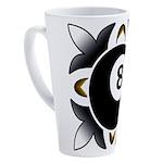 8 Ball Deco 17 oz Latte Mug