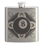 8 Ball Deco Flask