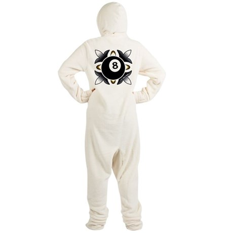 Deco 8 Ball Hooded Footed Pajamas
