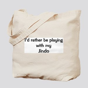 Be with my Jindo Tote Bag