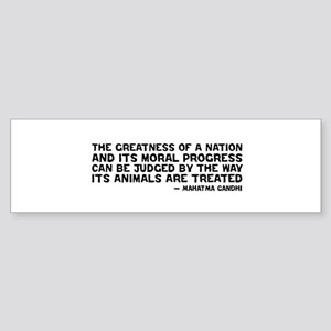 Gandhi - Greatness of a Nation Bumper Sticker