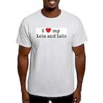 I Love my Lola and Lolo Ash Grey T-Shirt
