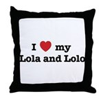I Love my Lola and Lolo Throw Pillow