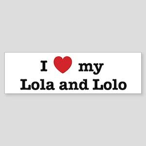 I Love my Lola and Lolo Bumper Sticker