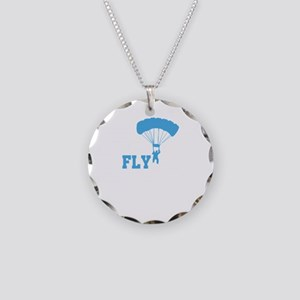 Born To Fly Paragliding Adve Necklace Circle Charm