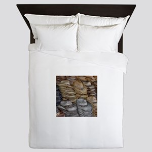 collection of straw cowboy hats Queen Duvet