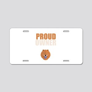 Proud Owner of Chow Chow An Aluminum License Plate