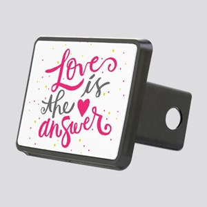 Loves is the answer Rectangular Hitch Cover