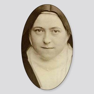 St Therese Holy Face Oval Sticker