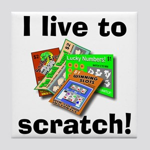 I Live to Scratch Tile Coaster