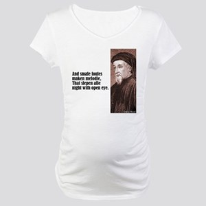 """Chaucer """"Smale Foules"""" Maternity T-Shirt"""
