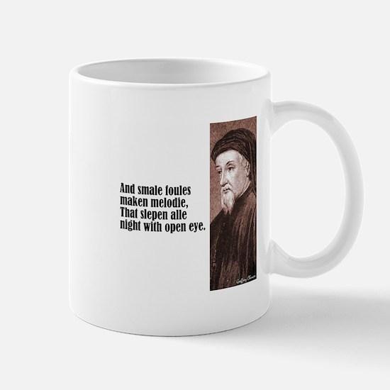 "Chaucer ""Smale Foules"" Mug"