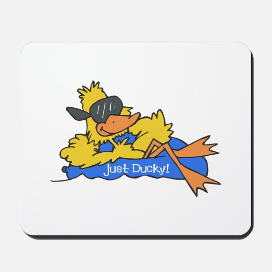 Ducky on a Raft Mousepad