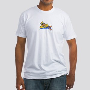 Ducky on a Raft Fitted T-Shirt
