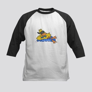 Ducky on a Raft Kids Baseball Jersey