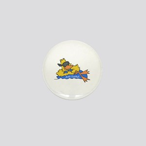 Ducky on a Raft Mini Button