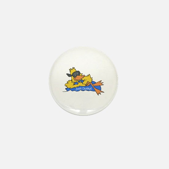 Ducky on a Raft Mini Button