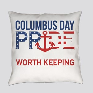 Columbus Day Pride An American Tra Everyday Pillow