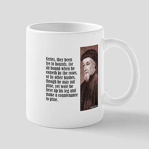 "Chaucer ""Hounds"" Mug"