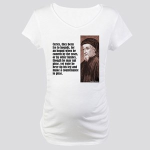 "Chaucer ""Hounds"" Maternity T-Shirt"