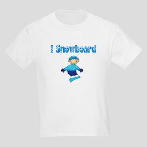 I Snowboard Blonde Kids Light T-Shirt