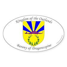 Dragonsspine Oval Sticker