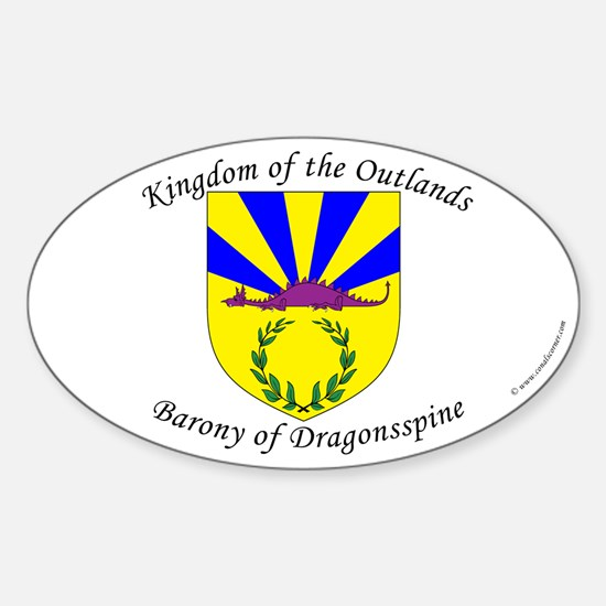 Dragonsspine Oval Decal