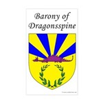 Dragonsspine Rectangle Sticker