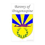 Dragonsspine Rectangle Sticker 10 pk)