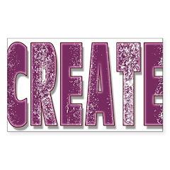 Create Rectangle Sticker 50 pk)
