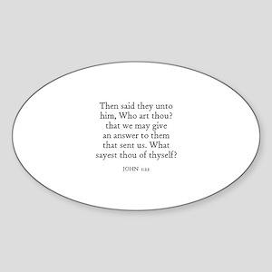 JOHN 1:22 Oval Sticker