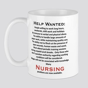 """""""Help Wanted"""" On Front of Mug"""