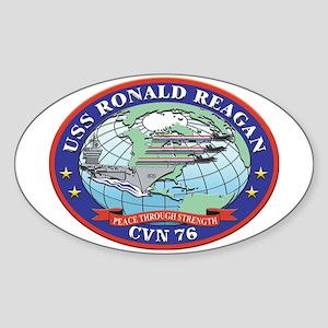 USS Ronald Reagan CVN 76 Oval Sticker