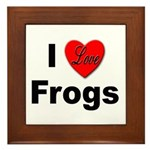 I Love Frogs Framed Tile