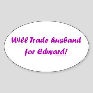 Husband for Edward Oval Sticker