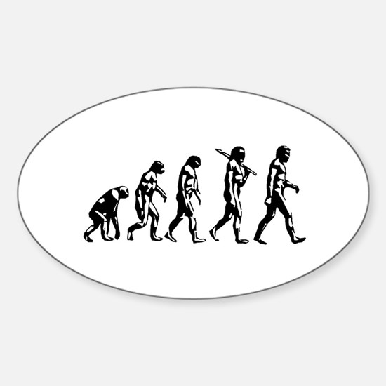 Evolution of Man Oval Decal