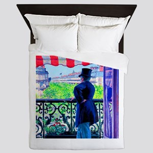 Gustave Caillebotte Man on Balcony Queen Duvet